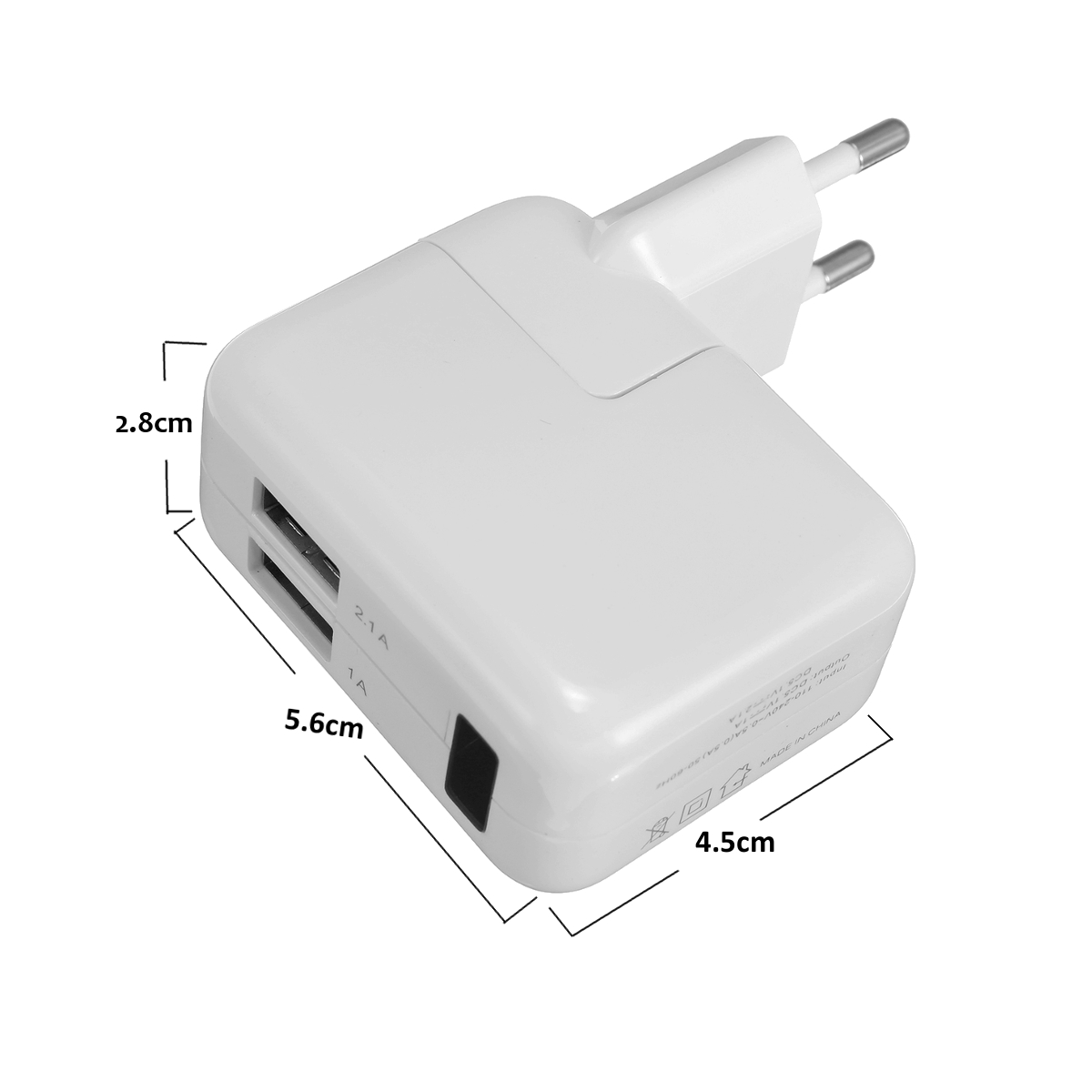 1080P USB WiFi Hidden Spy Camera Wall Travel Charger with Charging Cable for Cell Phone