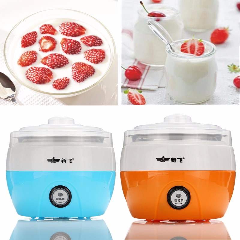 220V Stainless Steel Automatic Yogurt Maker DIY Yoghurt Container Kitchen DIY Appliance