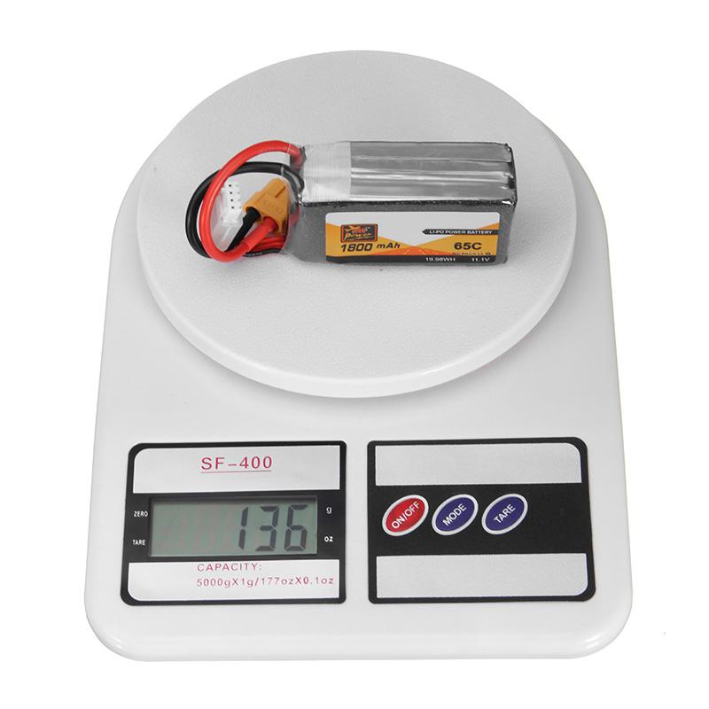 Puissance zop 11.1v 1800mah 65c 3S batterie lipo XT60 prise de courant