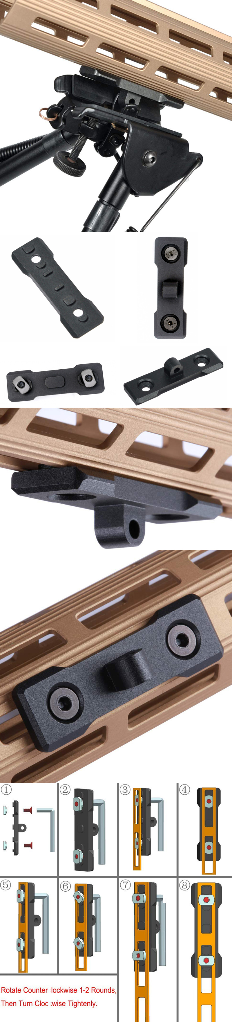 Tactical M-LOK Bipod Mount Outdoor Hunting Handguard Adapter Aluminum Alloy Mlok Accessories