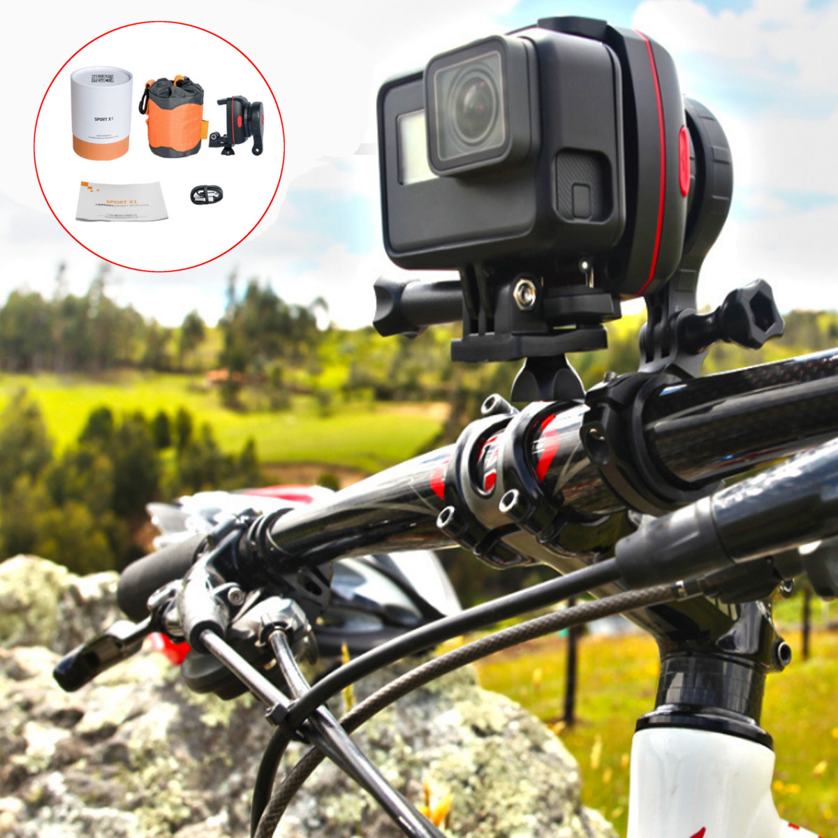 Wewow Sport X1 Handheld 1-Axis Wearable Portable Stabilizer Gimbal for GoPro 3 3+ 4 5 Smartphone