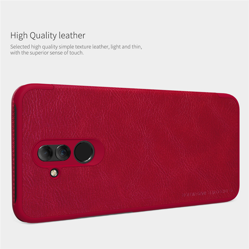 NILLKIN Shockproof Flip PU Leather Full Cover Protective Case for Huawei Mate 20 Lite