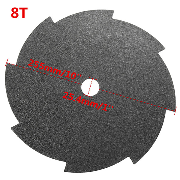 255x25.4x1.6mm Brush Cutter Strimmer 8 Tooth Blade Cutting Saw Blade
