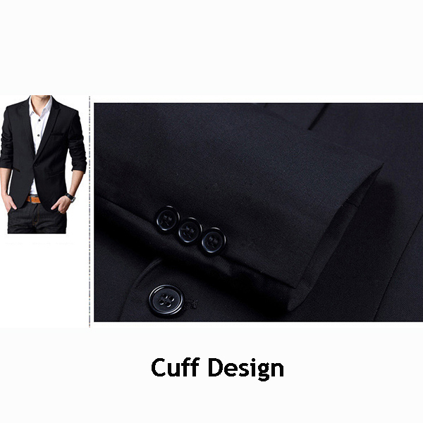 Spring Fall Casual Fashion Slim Fit Men Blazers Suit Jacket XS-2XL