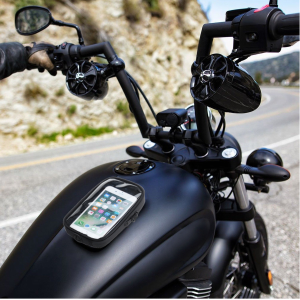 Motorcycle Magnetic Cell Phone Case Holder Gas Tank Mount Universal Black
