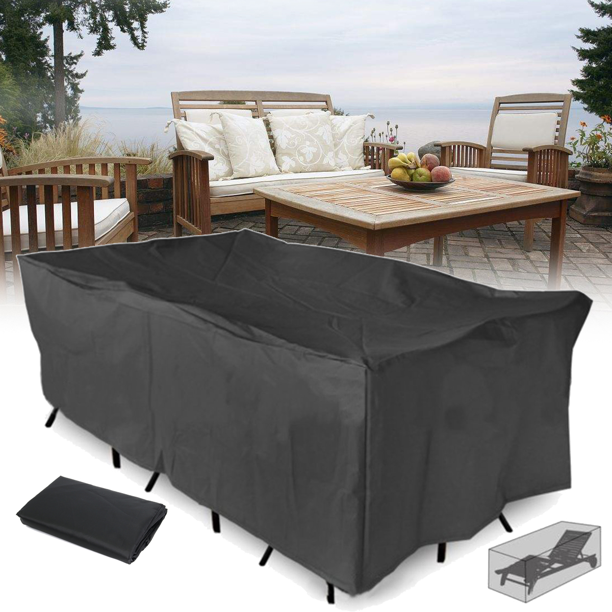 210x110x70cm Outdoor Garden Patio Furniture Waterproof Dust Cover