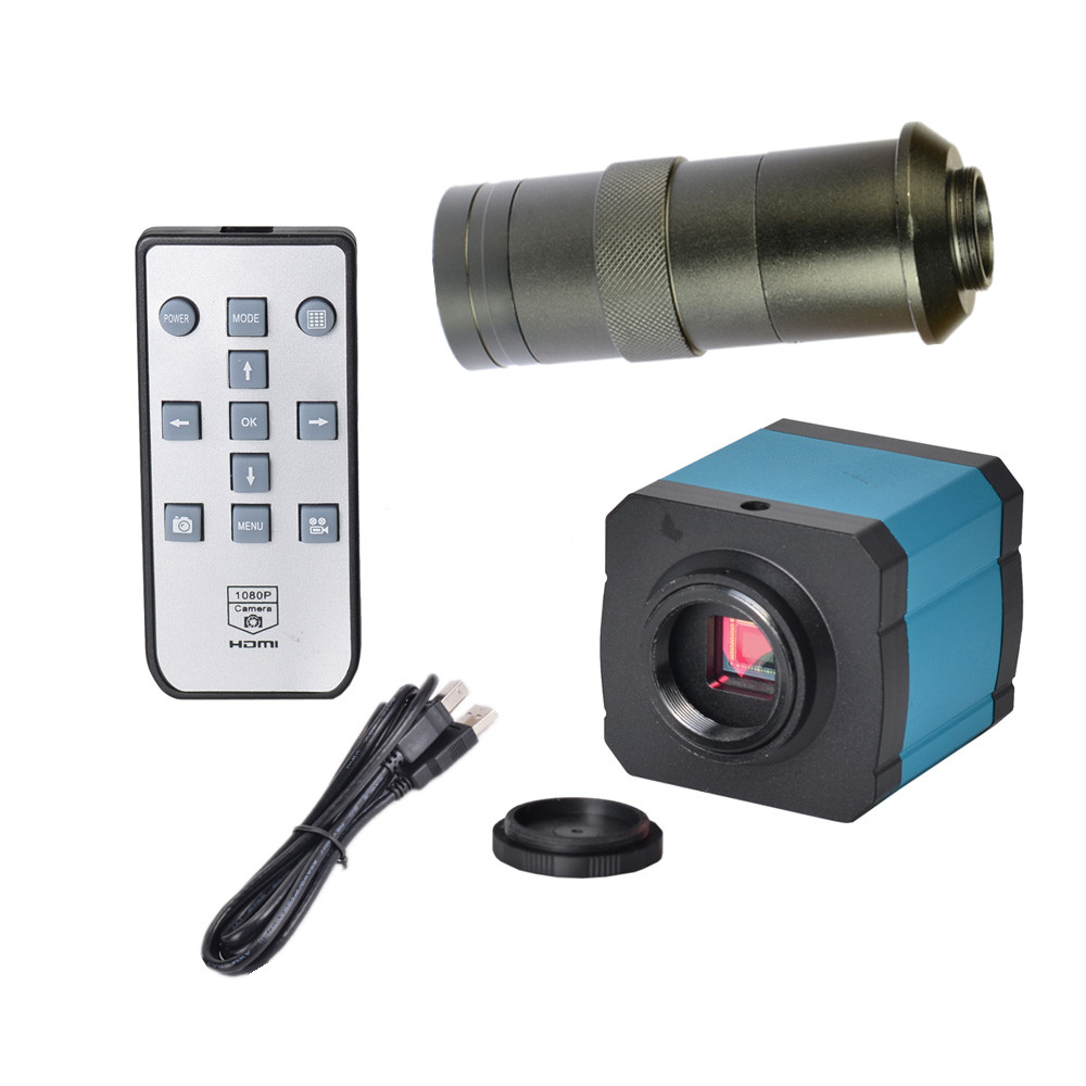 HAYEAR 14MP USB HD Industry Video Microscope Camera Digital Zoom 720p 60Hz Video Output + 100X C-mount Lens
