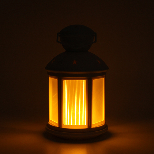 Portable RGB Colorful Lantern LED Table Light Battery Powered Flame-Shaped 3D decor Lamp