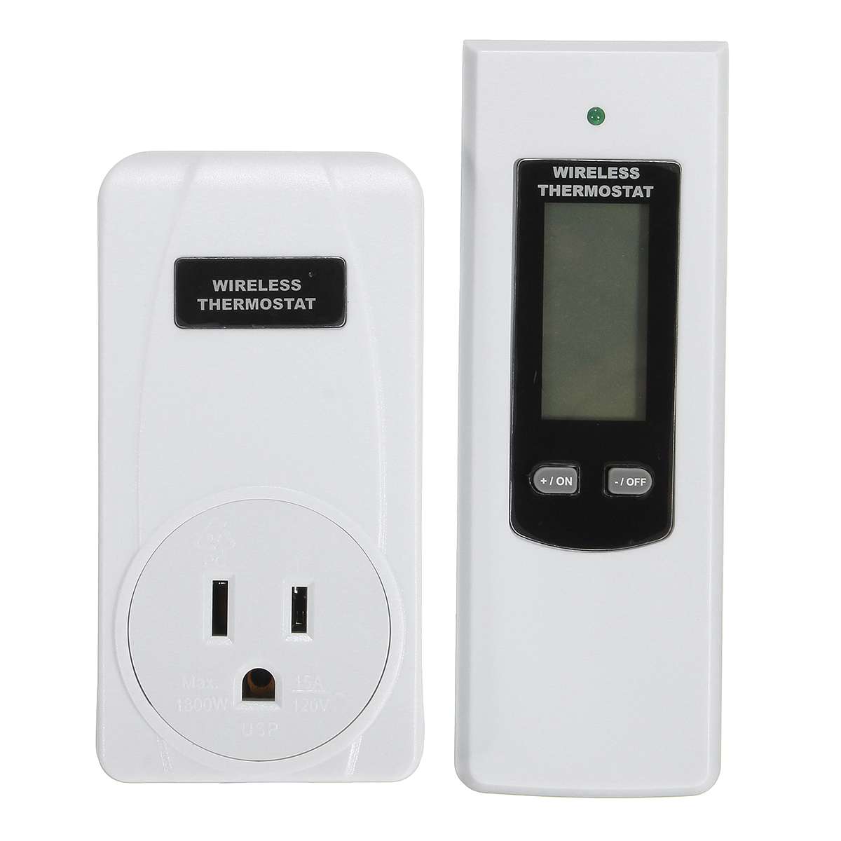 TS-808 RF 433MHz Remote Control LCD Wireless Temperature Thermostat with Alarm Function