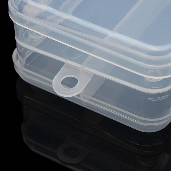 Multifunctional Transparent Plastic Fishing Tackle Box Fishing Lure Hooks Storage Box