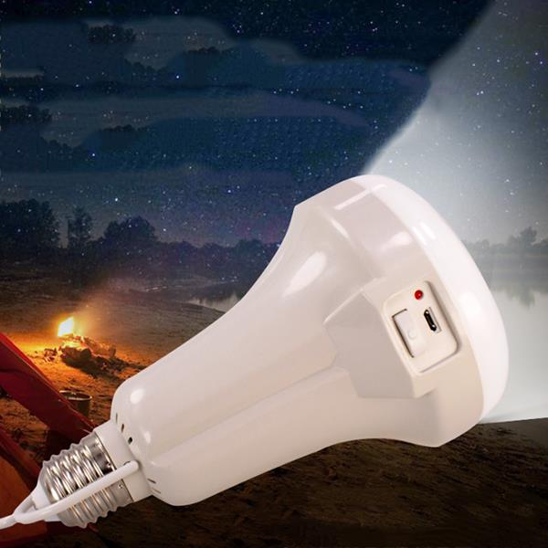 15W Multifuction Portable LED Flashlight USB Connect Rechargeable Emergency Camping Bulb Light AC220