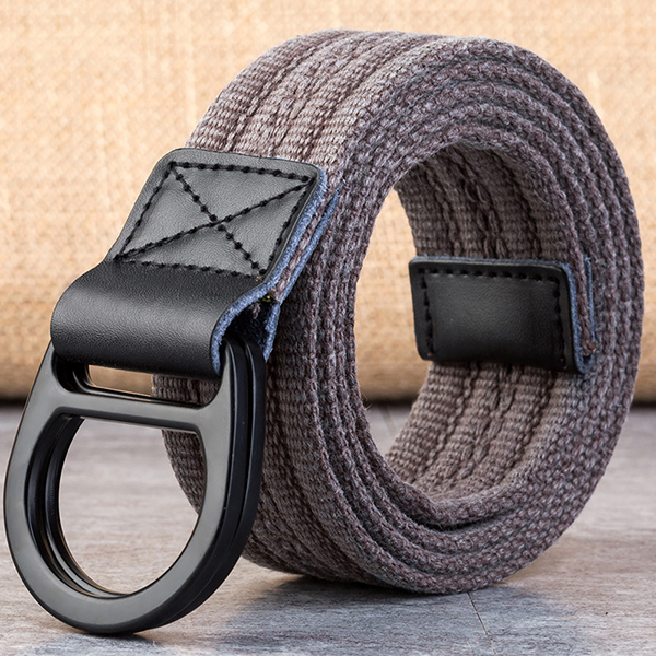 Men's Double Ring Buckle Durable Canvas Belt