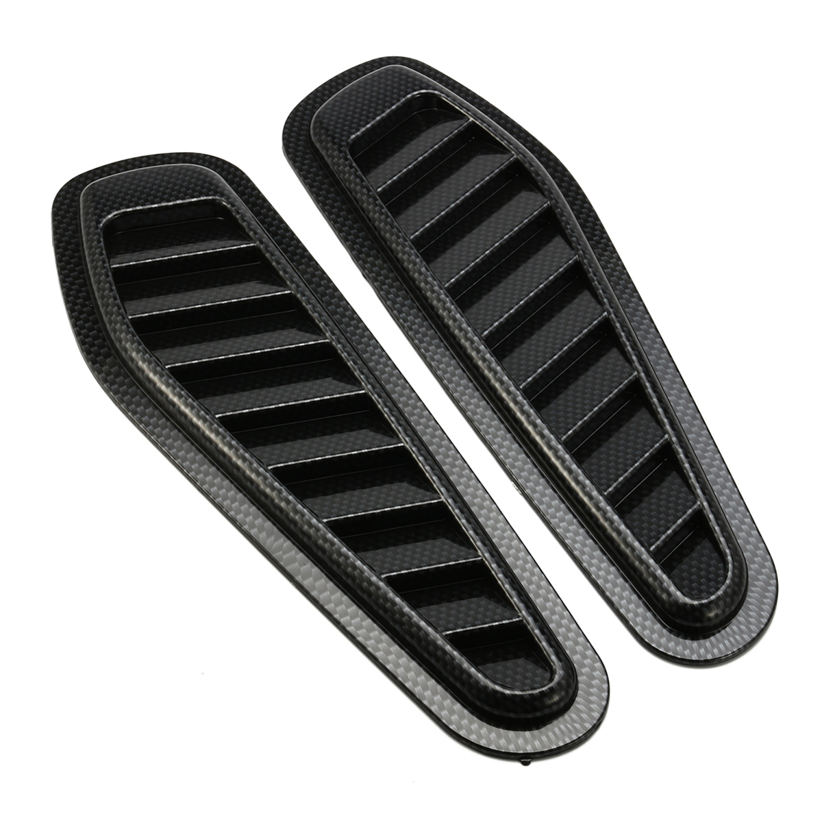 2Pcs ABS Race Car Hood Scoop Carbon Style Bonnet Crankcase Air Vent Valve Decorative Accessories
