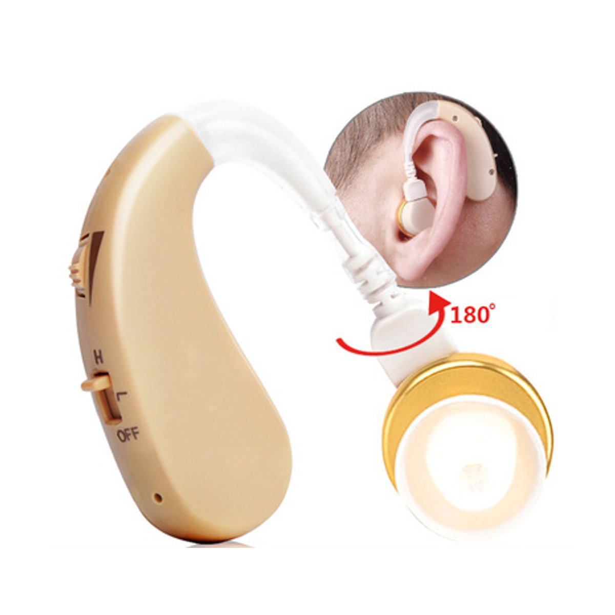 USB Rechargeable Digital Hearing Aids Voice Amplifier Kit