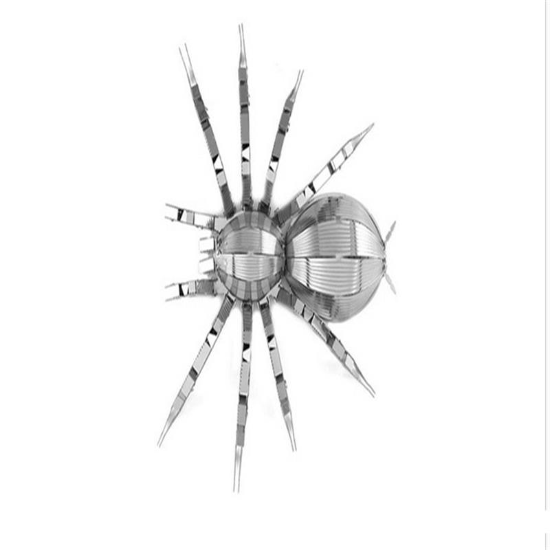 Aipin DIY 3D metal Puzzle Stainless Steel Assembled Model Nano Stereo Puzzle Spider For Kids Gift