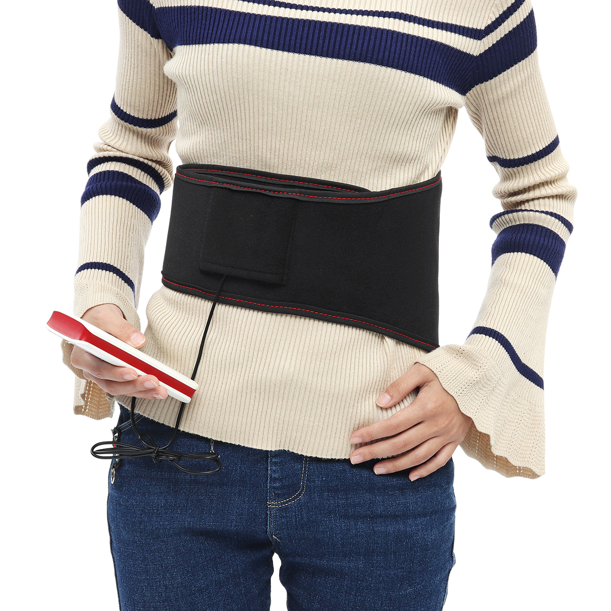 USB Waist Belt Electric Heating Pad Back Stomach Pain