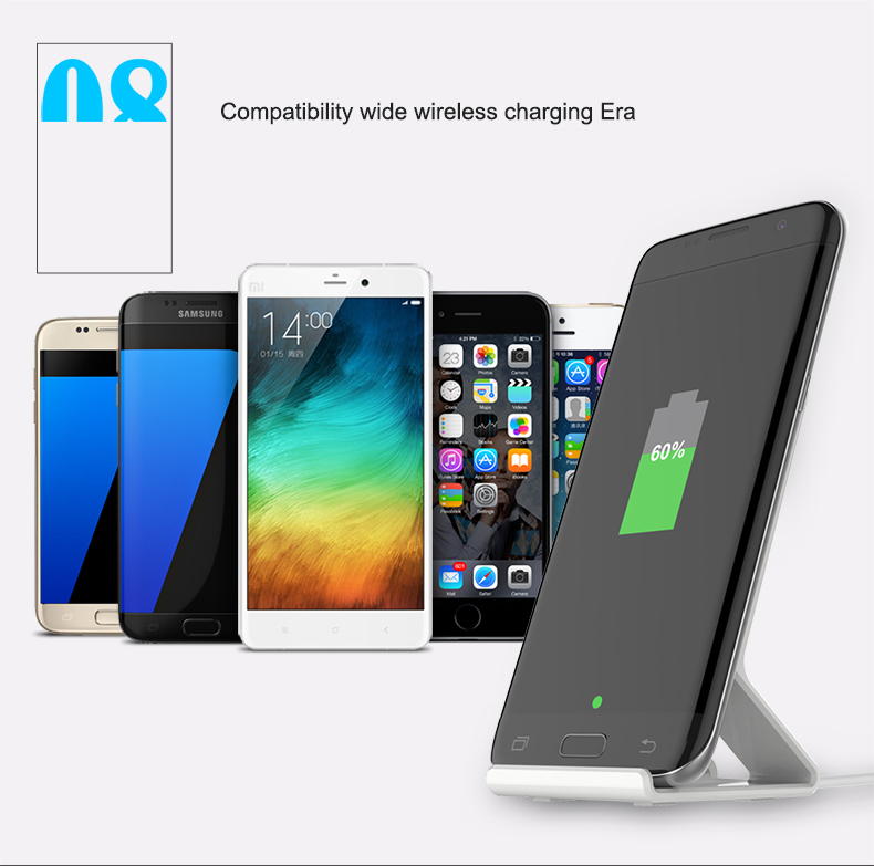 5W Portable Wireless Charger Charging Pad Stand Holder for Samsung Galaxy S6/S6 edge/Note 5/S7/S7 ed