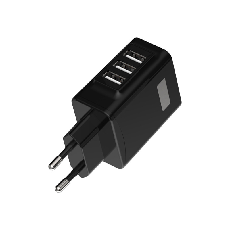 Bakeey 3 USB Ports OLED Current Voltage Display 5V 3A EU Plug Fast Charger for iPhone X S8 S9 8 Plus