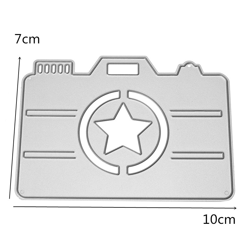 7 x 10cm Camera Pattern Scrapbooking DIY Album Card Paper Diary Craft Maker Metal Cutting Die