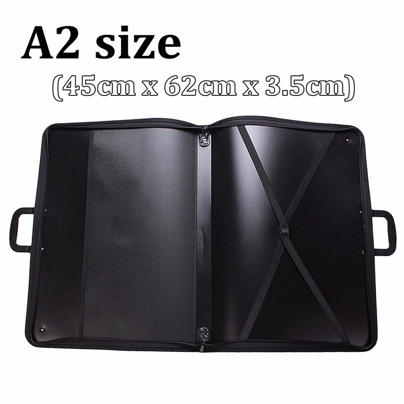 1pcs A2/A3 Vinyl Artist Portfolio Drawing Painting Storage File Folder Carry Case For Art Set Sketch