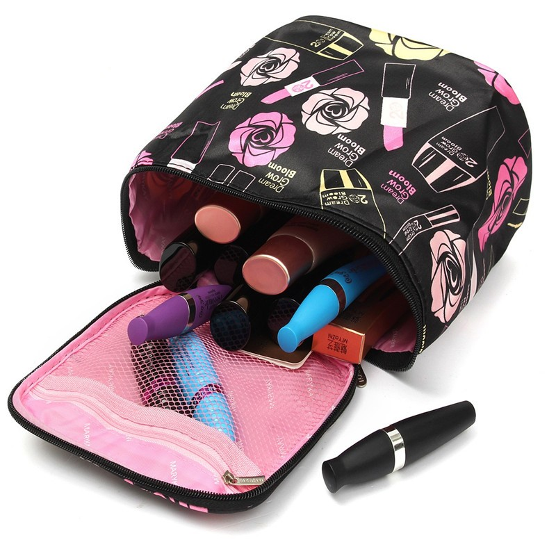 Colorful Makeup Box Zipper Bag Beauty Cosmetic Tools Storage Holder Organiser Case
