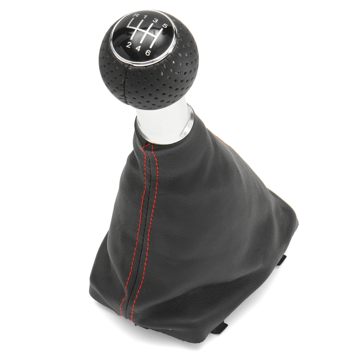 6 Speed Shifter Gear Shift Knob Gaitor Boot Red Line For Audi A3 S3 2001-2003