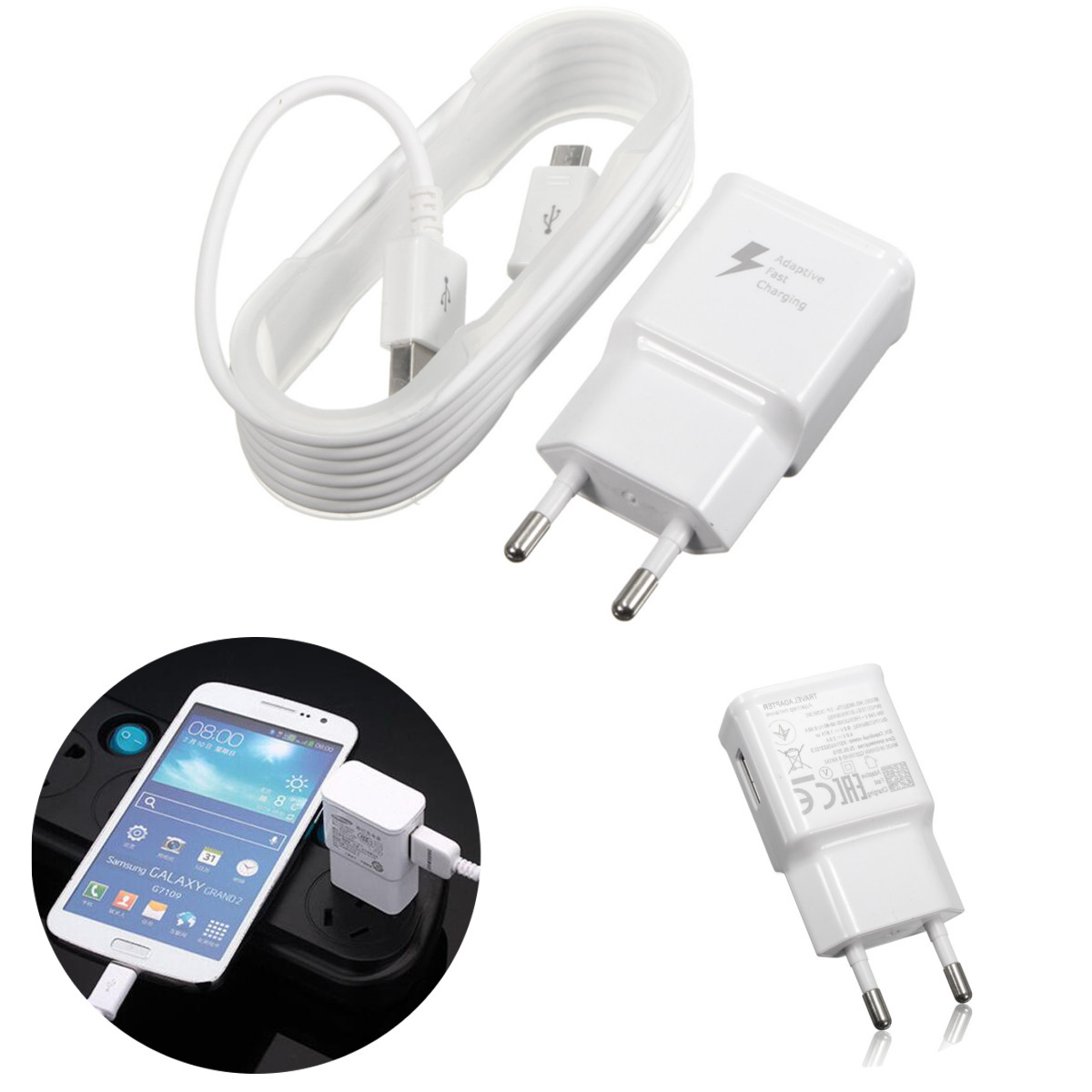 Bakeey EU 9V 2A Micro USB Charger Charging Cable Adapter For Samsung Xiaomi Huawei