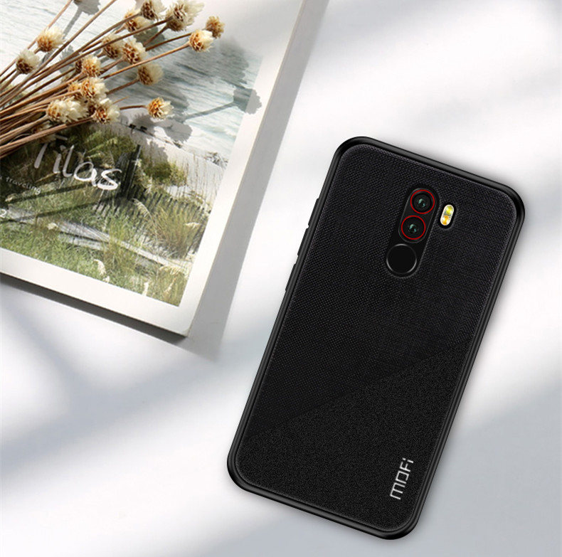 Mofi Shockproof Anti-slip PC + TPU Back Cover Protective Case for Xiaomi Pocophone F1