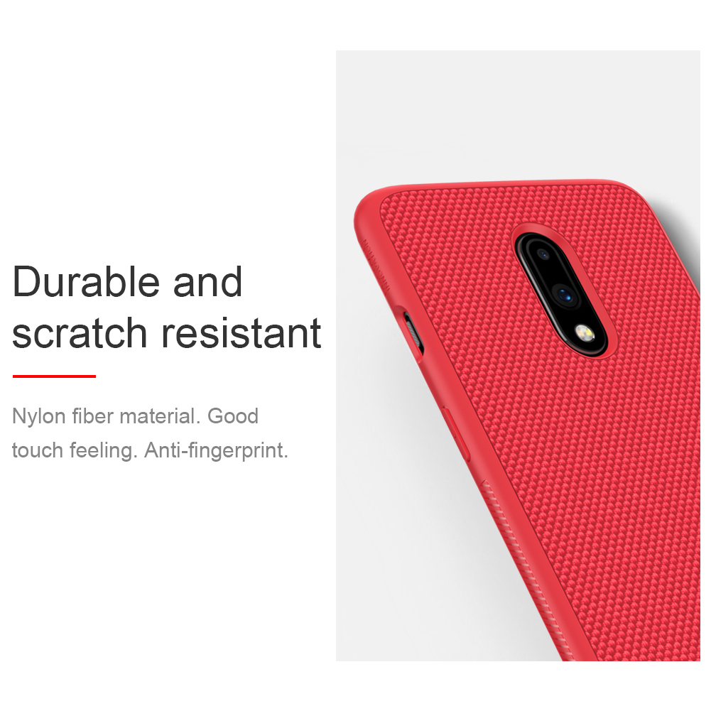 NILLKIN Shockproof Anti-scratch Slight Nylon & Synthetic Fiber Textured Protective Case for OnePlus 7