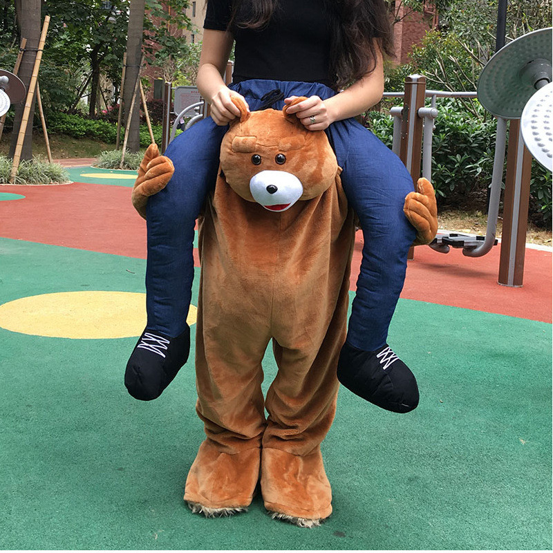 Festival Gifts Carry Mascot Bear Shoulder Back Ride On Fancy Dress Adult Party Costume Outfit Pants