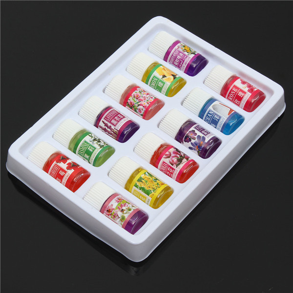12pcs Spa Aromatherapy Flower Essential Oil Set Pure Therapeutic Relief Plant Headache Home