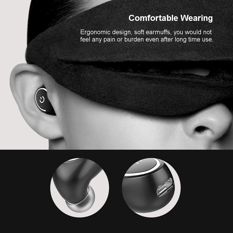 Mini Stealth Uniaural bluetooth Earphone With Mic Noise Cancelling Sport For iPhone Xiaomi