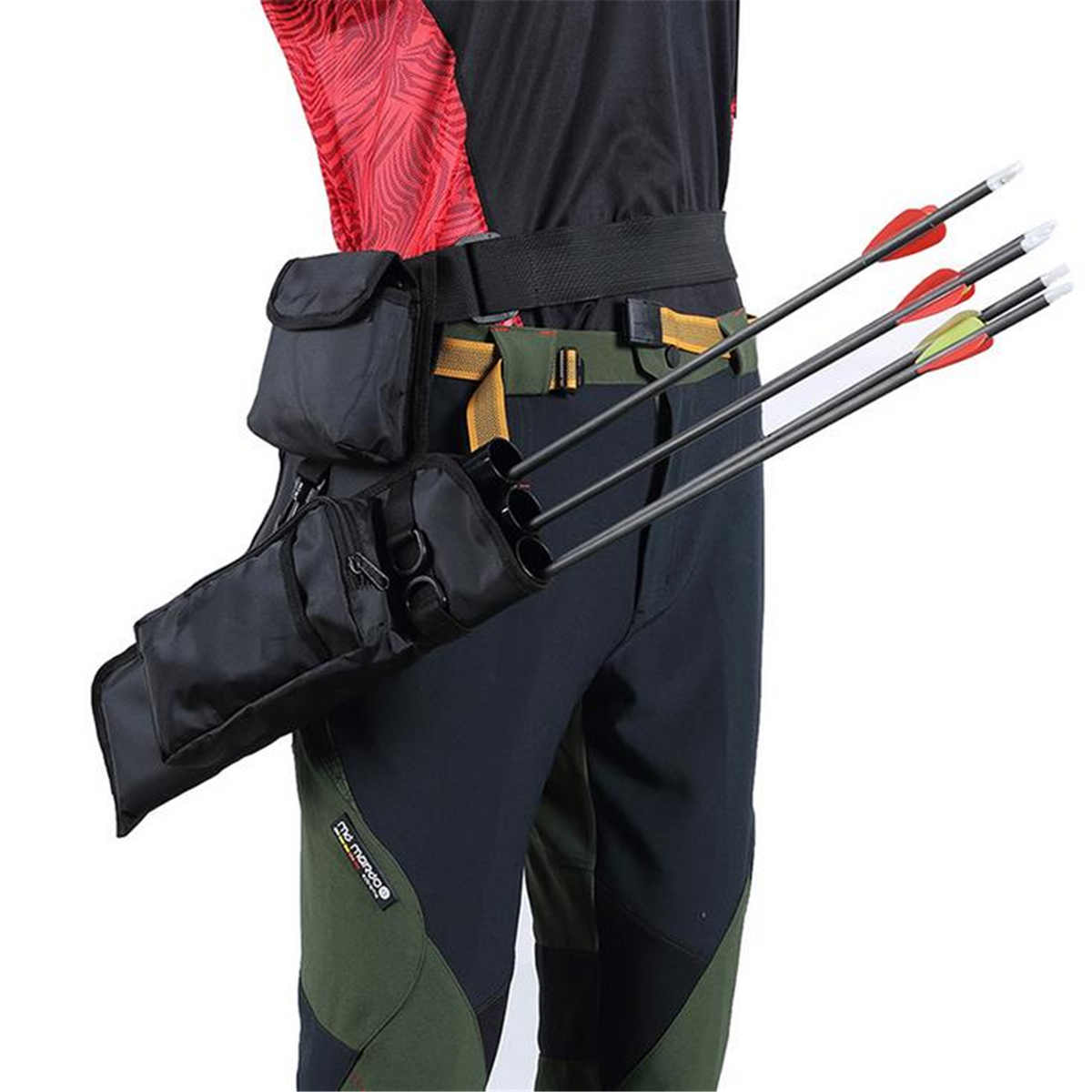 Bow Bag Arrow Holder 3-Tube Archery Quiver Adjustable Shoulder Strap Bags