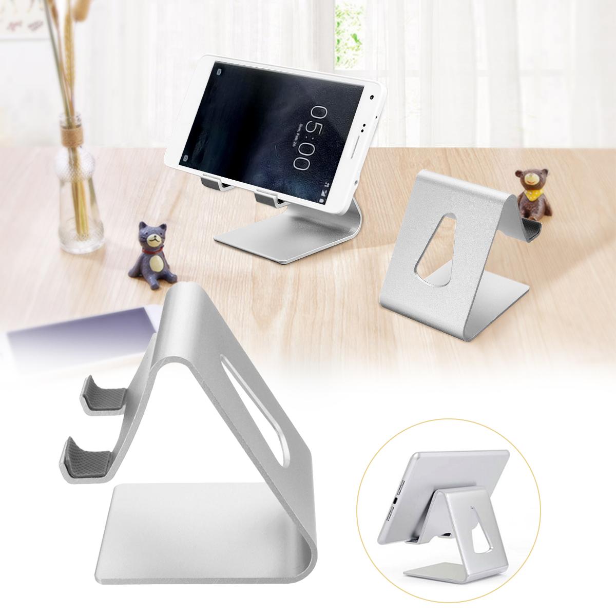 Universal Aluminium Desktop Phone Stand Lazy Holder Cradle Mount for iPad iPhone Samsung Xiaomi