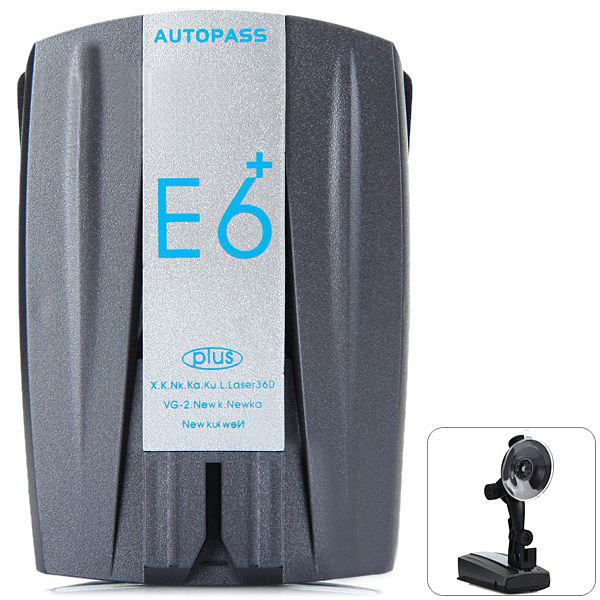 E6 Plus Speed Radar Detector 360 Degree Alarm for Car Auto Support Camera and Distance Alerts