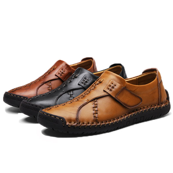 Menico Genuine Leather Hook Loop Oxfords