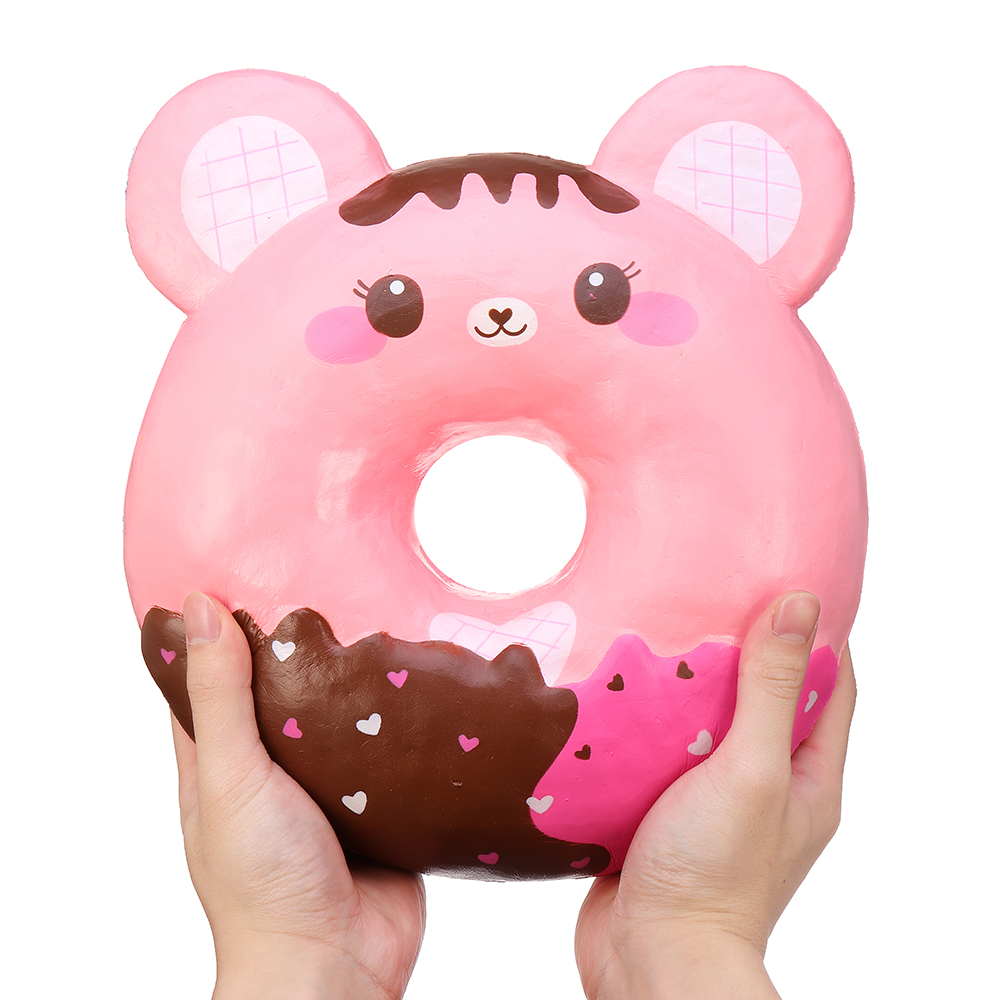 Puni Maru 50cm Huge Candiibear Squishy Giant Chocolate Donut Jumbo Humongous Slow Rising Toy With Packing Box