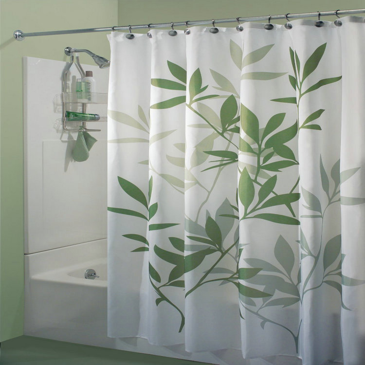 Honana 71 X Leaves Fabric Shower Curtain European Printing