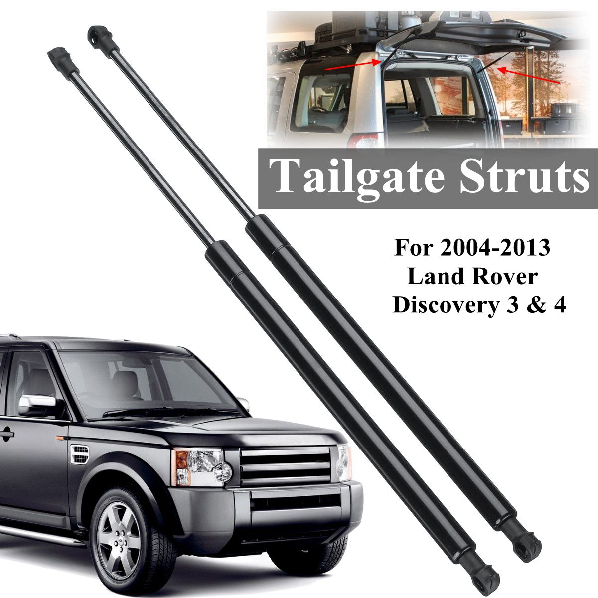 2X Tailgate Boot Truck Gas Struts Support Car Supports Shock For Land Rover Discovery 3 4 2004-2013