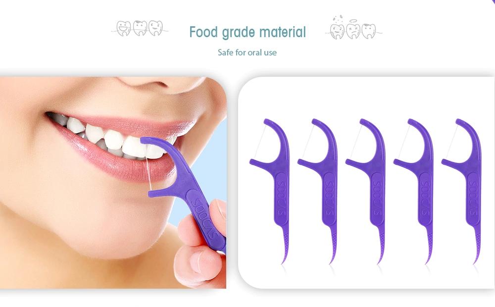 SOOCAS 300Pcs Dental Floss Picks Interdental Between Teeth