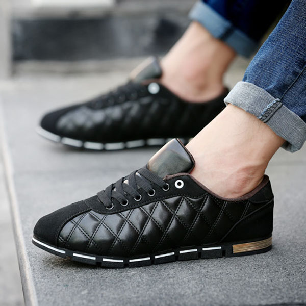 Lace Up Breathable Casual Sneakers Soft Sole Sport Shoes