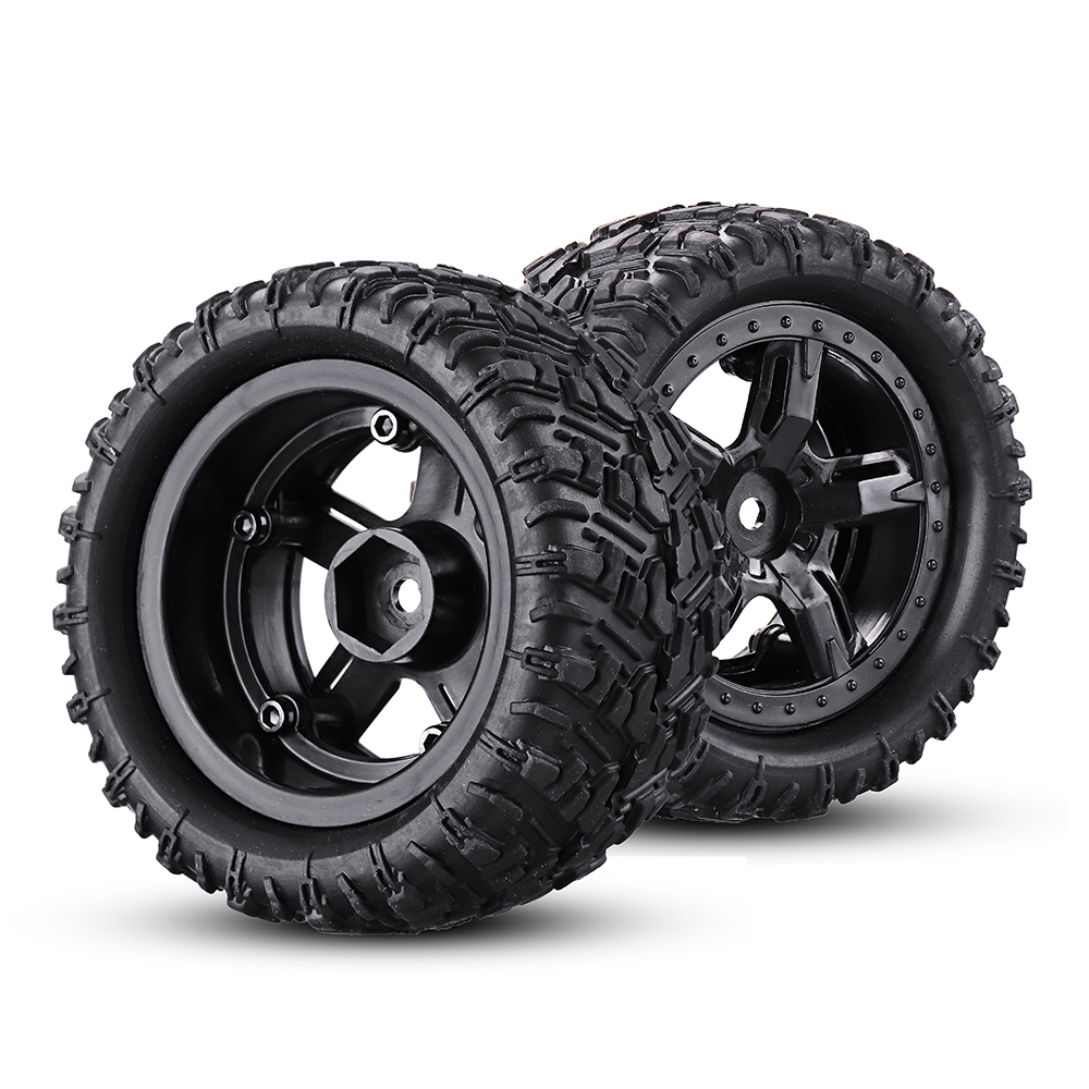 Remo P6973 Rubber RC Car Tires For 1621 1625 1631 1635 1651 1655 RC Vehicle Models - Photo: 2