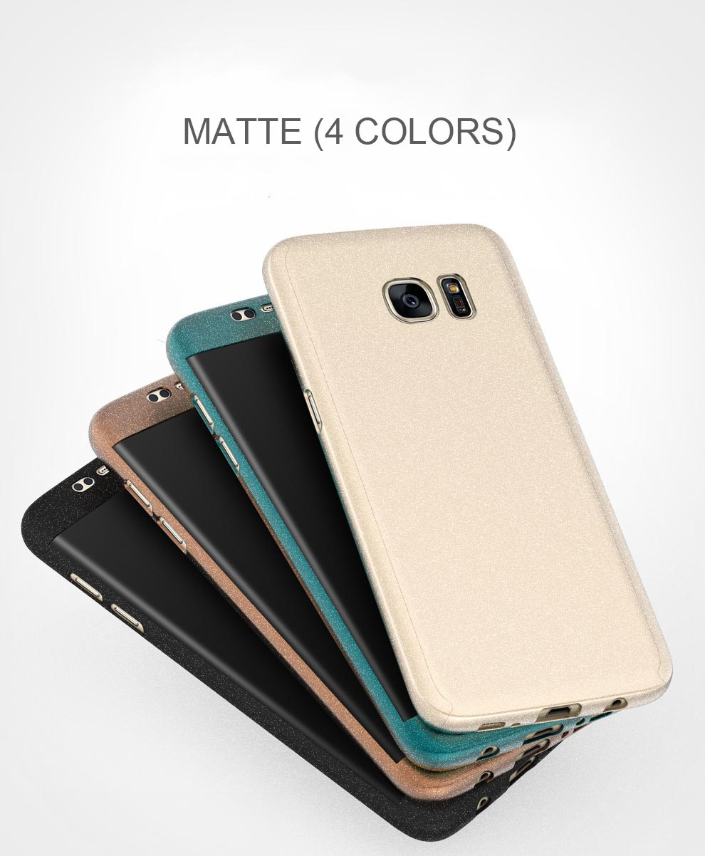 Full Body Front & Back Cover Matte Case For Samsung Galaxy S7 Edge