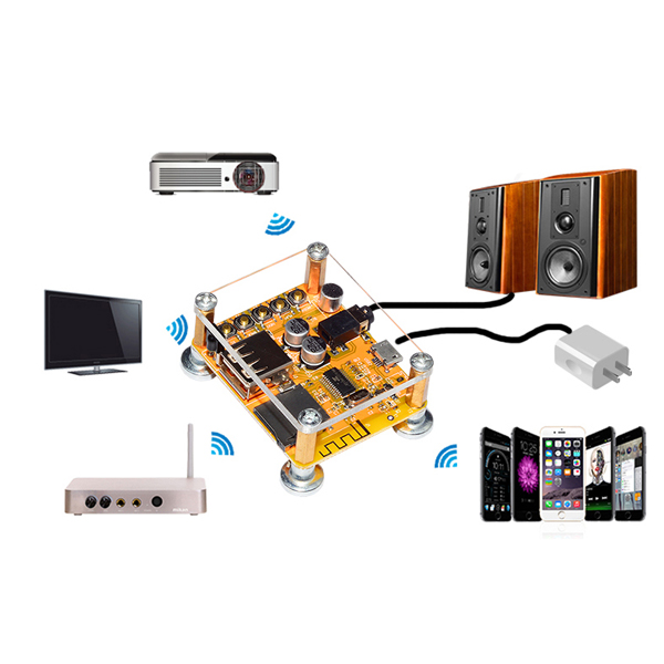 APP Control Remote Control Wireless bluetooth Audio Receiver Board 4.2 bluetooth Amplifier Board With Shell And Antenna