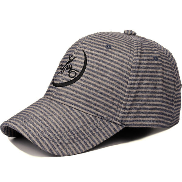 Cotton Stripe Quick Dry Baseball Cap Sport Trucker Cap Hat