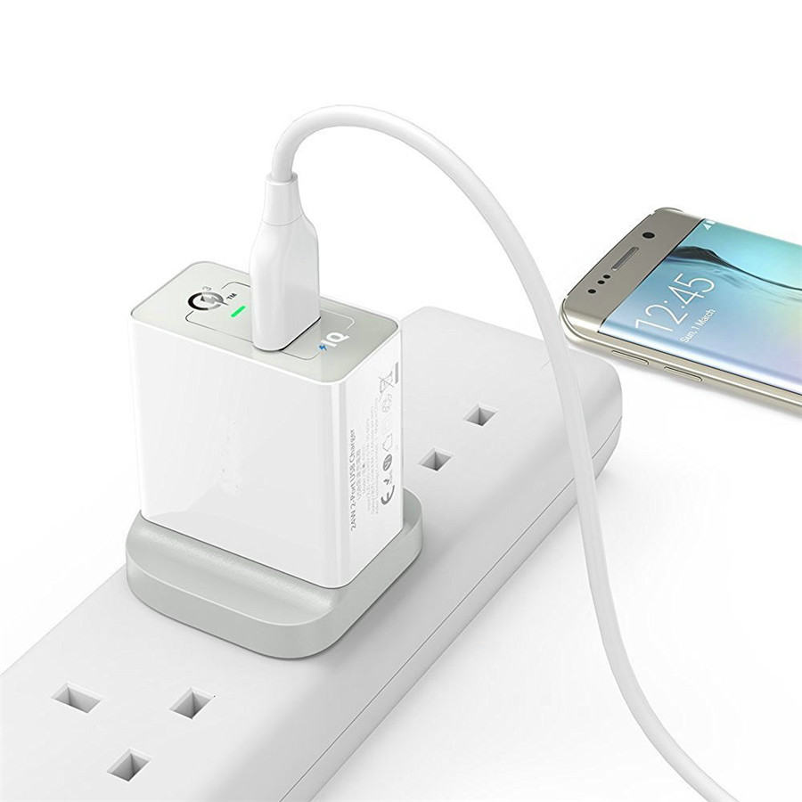 UK Qualcomm QC3.0 Quick Charge 3.4A Travel Charger for Android IOS Smartphone