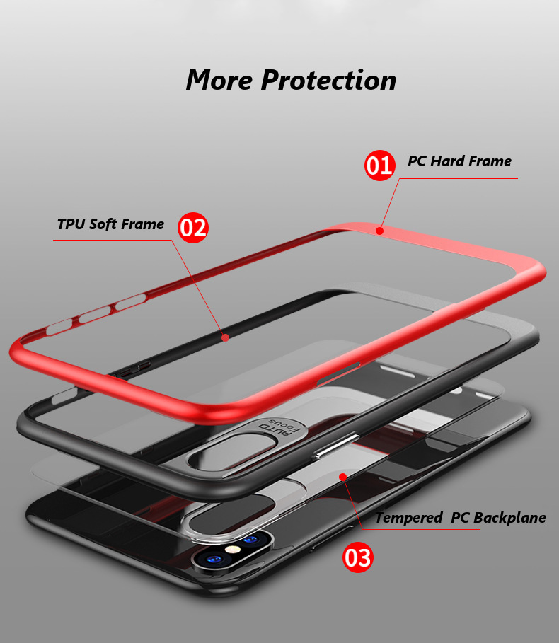 Bakeey™ Acrylic Mirror Back TPU Frame Ultra Thin Case for iPhone X
