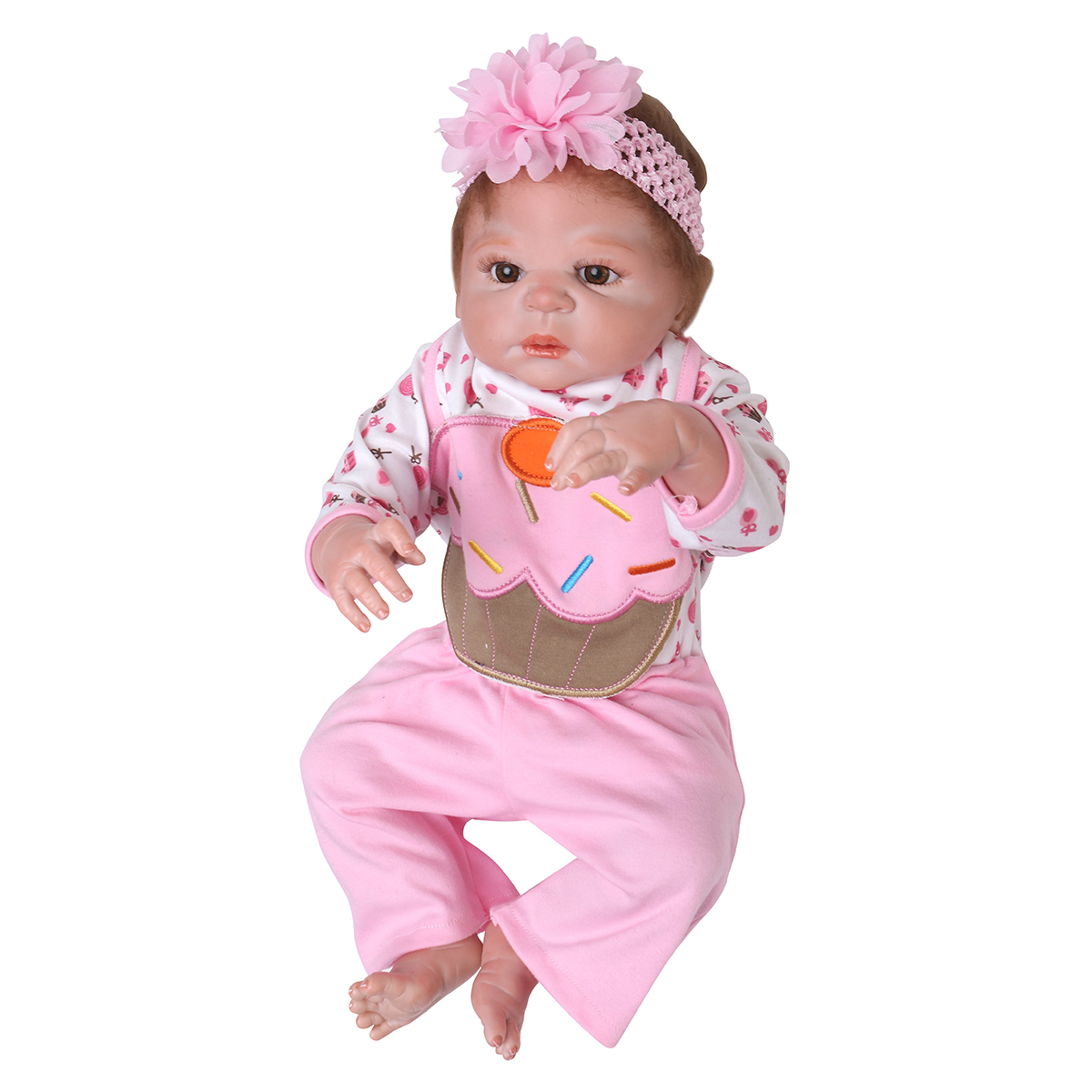 NPK 23 Inch 58cm Reborn Baby Soft Silicone Doll Handmade Lifeike Baby Girl Dolls Play House Toys Birthday Gift