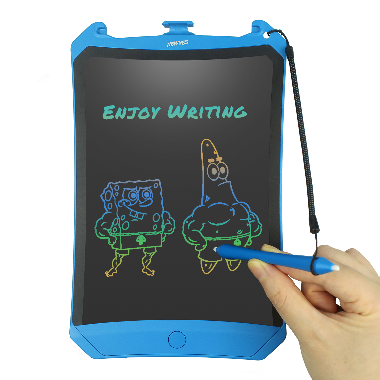 NEWYES 8.5inch LCD Writing Tablet Drawing Notepad Electronic Handwriting Painting Office Pad Multi-color Screen Lock Key One-click Eraser Toys