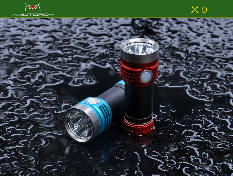 Amutorch X9 Type-C USB Rechargeale USB Charging Super Bright 26650 EDC led Flashlight